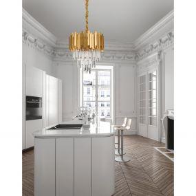 Nova Luce Grane - hanglamp - Ø 40 x 120 cm - goud