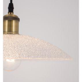 Nova Luce Sangro - hanglamp - Ø 30 x 120 cm - wit, goud en zwart