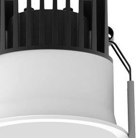 Nova Luce Blade - inbouwspot - Ø 78 mm, Ø 72 mm inbouwmaat - 12W LED incl. - IP65 - wit