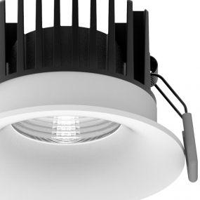 Nova Luce Blade - inbouwspot - Ø 85 mm, Ø 80 mm inbouwmaat - 12W LED incl. - IP65 - wit