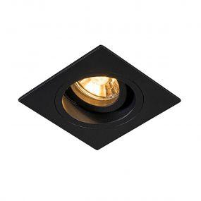 Zuma Line Chuck DL vierkant - inbouwspot - 92 x 92 mm, Ø 80 mm inbouwmaat - zwart