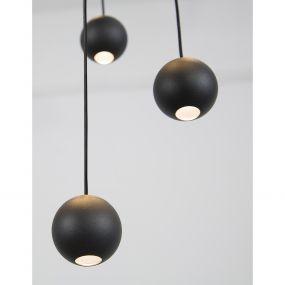 Nova Luce Nocci - hanglamp - Ø 40,5 x 150 cm - 10 x 4,5W LED incl. - zwart