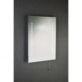Searchlight Bathroom Mirrors - spiegel met verlichting op batterijen en trekschakelaar - 39 x 50 cm - 2,8W LED incl. - IP44 - wit