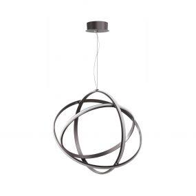 Nova Luce Pertone - hanglamp - Ø 70 x 150 cm - 63W dimbare LED incl. - zwart paars