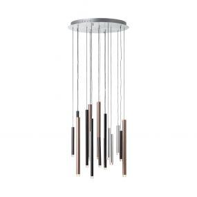 Brilliant Cembalo - hanglamp - Ø 55,3 x 180 cm - 3 stappen dimmer - 16 x 4W LED incl. - meerkleurig