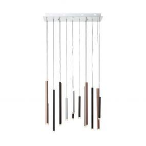 Brilliant Cembalo - hanglamp - 70 x 30 x 180 cm - 3 stappen dimmer - 14 x 4W LED incl. - meerkleurig
