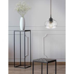 Nova Luce Devon - hanglamp - Ø 18 x 120 cm - transparant
