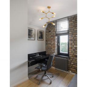 Nova Luce Calisto - plafondverlichting - Ø 60 x 84 cm - messing