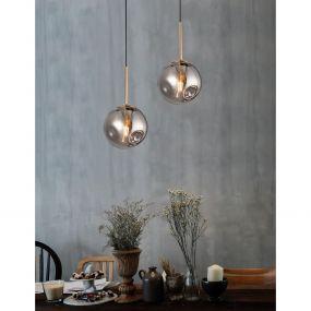 Nova Luce Spada - hanglamp - Ø 15 x 180 cm - chroom