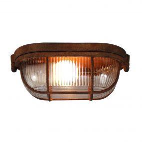 Brilliant Bobbi - plafond/wandverlichting - 21 x 12 x 10 cm - roest