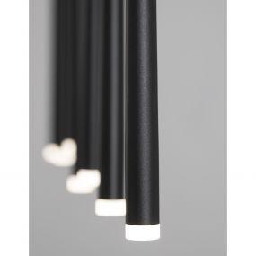 Nova Luce Giono - hanglamp - 90 x 5 x 230 cm - 7 x 3W LED incl. - zand zwart