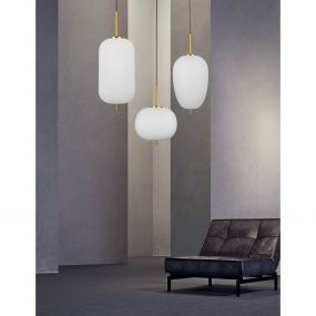 Nova Luce Lato - hanglamp - Ø 27 x 120 cm - antiek messing
