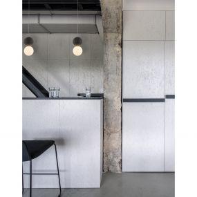Nova Luce Zero - hanglamp - Ø 10 x 120 cm - grijs