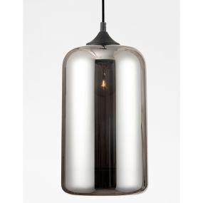 Nova Luce Savaz - hanglamp - Ø 17,5 x 120 cm - zwart en chroom