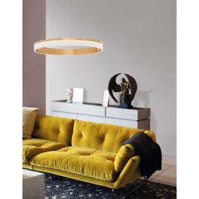 Nova Luce Courtez - hanglamp - Ø 60 x 150 cm - 45W LED incl. - brons