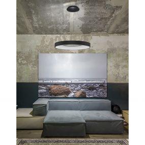 Nova Luce Rando Smart - hanglamp - Ø 60 x 120 cm - 50W dimbare LED incl. - Tuya - zand zwart