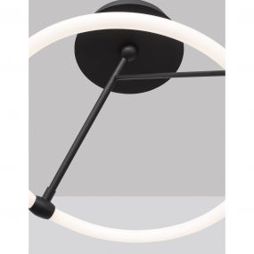 Nova Luce Janus - hanglamp - Ø 38 x 37 cm - 21W LED incl. - zand zwart