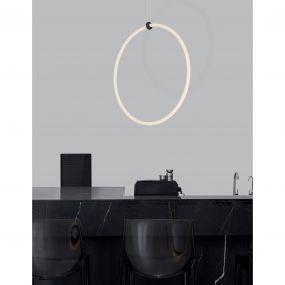 Nova Luce Girdino - hanglamp - 59,5 x 21 x 120 cm - 30W dimbare LED incl. - zand zwart