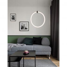 Nova Luce Girdino - hanglamp - 38 x 19 x 120 cm - 21W LED incl. - zand zwart