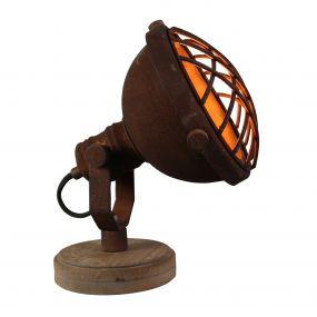 Brilliant Mila - tafellamp - 21 cm - roest