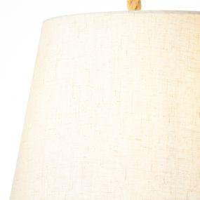 Brilliant Sailor - hanglamp - Ø 35 x 130 cm - wit en lichtbruin