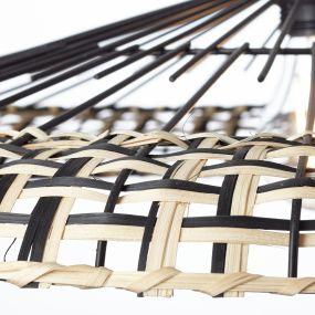 Brilliant Fixi - hanglamp - Ø 60 x 144 cm - zwart