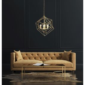 Maxlight Andora - luster - Ø 68 x 150 cm - messing