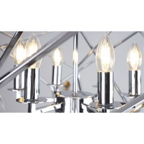 Maxlight Andora - luster - Ø 68 x 150 cm - chroom