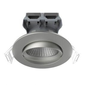 Nordlux Apollo - set van 5 - 4,8W LED incl. - Ø 85 mm, Ø 72 mm inbouwmaat - IP23 - geborstelde nikkel
