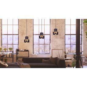 Maxlight C-linder - hanglamp - Ø 16,5 x 120 cm - zwart