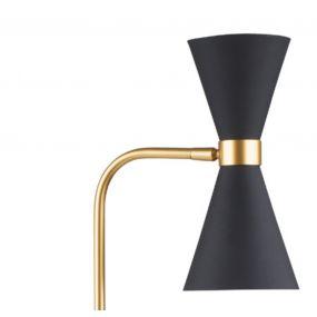 Maxlight Cornet - tafellamp - 67 cm - 2 x 5W LED incl. - zwart en goud