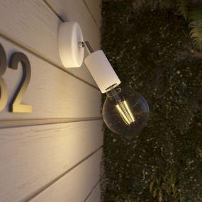 Creative Cables Eiva - buiten- en/of badkamerwandlamp met siliconen bevestiging - Ø 12,5 x 10,5 cm - IP65 - wit