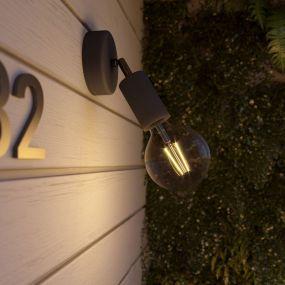 Creative Cables Eiva - buiten- en/of badkamerwandlamp met siliconen bevestiging - Ø 12,5 x 10,5 cm - IP65 - zwart