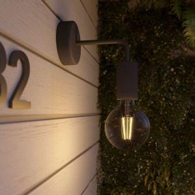 Creative Cables Eiva - buiten- en/of badkamerwandlamp met siliconen bevestiging - Ø 12,5 x 14 cm - IP65 - zwart