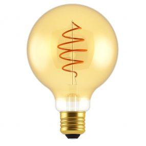 Nordlux LED filament lamp - Ø 12,5 x 17,8 cm - E27 - 5W dimbaar - 2000K - goud