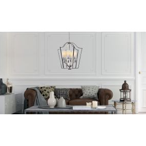 Maxlight Glasglow - luster - Ø 77 x 120 cm - chroom