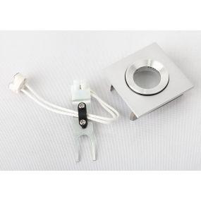Maxlight Shower - inbouwspot 1L - 60 x 60 mm, Ø 46 mm inbouwmaat - IP44 - geborsteld aluminium