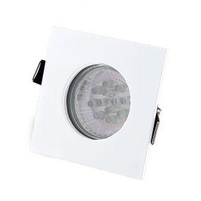 Maxlight Square - inbouwspot - 80 x 80 mm, Ø 68 mm inbouwmaat - IP44 - wit