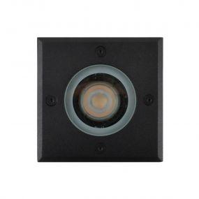 Lichtkoning Hades - vierkante grondspot voor buiten - 11 x 11 x 15 cm - IP67 - zwart