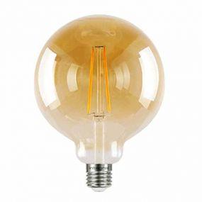 Integral LED-lamp E27 - Ø 12,5 x 17,8 cm - 5W dimbaar - 1800K - amber