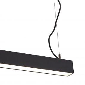 Dobac Fortis Pendant 18W - hanglamp - 56 x 6 x 5 cm - 18W LED incl. - zwart - witte lichtkleur