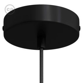 Creative Cables - plafondrozet - Ø 12 x 2,5 cm - zwart
