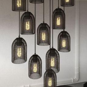 Creative Cables - hanglamp 11L - 67,5 x 140 cm - zwart
