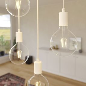 Creative Cables - hanglamp 7L - 67,5 x 130 cm - wit