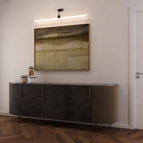 Creative Cables - wandverlichting met houten bevestigingskap - 14 x 17,7 x 7 cm - zwart