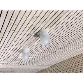 Zangra - wand/plafondverlichting - ⌀ 8,5 x 14,5 cm - wit