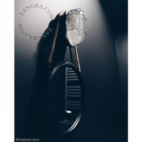 Zangra - wandverlichting - 11 x 11,5 x 19 cm - IP55 - transparant en zwart