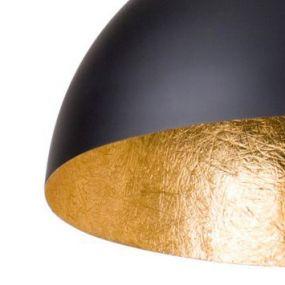 Linea Verdace Cupula+ 50 - 50cm diameter - zwart en goud (laatste stuk!)