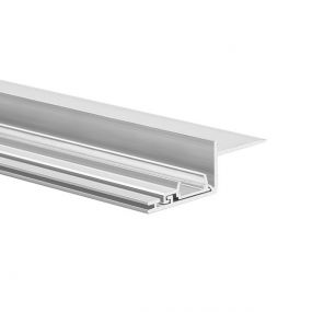 KLUS Nisa - inbouw LED profiel voor 12mm gipsplaat - 3,2 cm vensterbreedte - 200cm lengte - aluminium