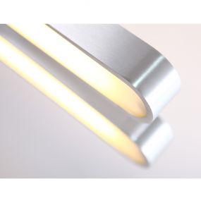 Maxlight Sparta - hanglamp - 17 x 90 x 120 cm - geborsteld aluminium